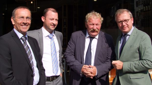 Announced the Belgian Pork Group (from the left): Luc Verspreet (Covalis), Joris Coenen and René Maillard (both Belgian Meat Office) and Jos Claeys (Westvlees).