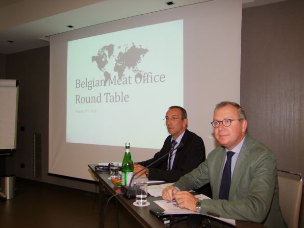 Luc Verspreet (left) and Jos Claeys at 10th BMO Round Table.