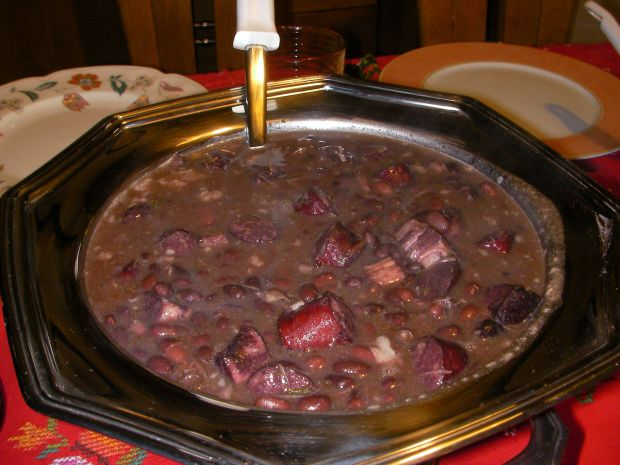 Feijoada is a typical Brazilean dish.