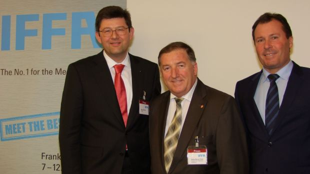 Invited to IFFA (from the left): Klaus Schröter, Heinz-Werner Süss und Wolfgang Marzin.