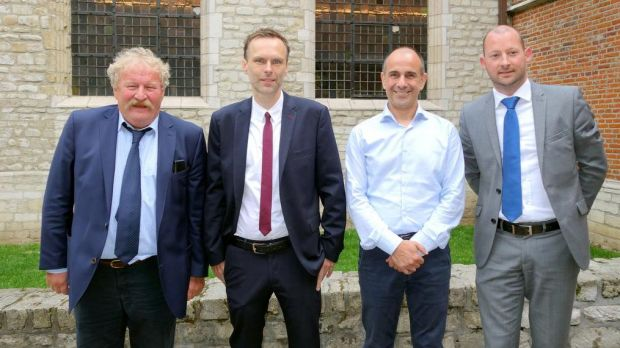 BMO Managing René Maillard, Prof. Dr. Frédéric Leroy (University of Brussels), Dr. Philippe Houdart (Belgian Food Safety Agency) and Joris Coenen from the Belgian Meat Office (BMO) in good spirits.