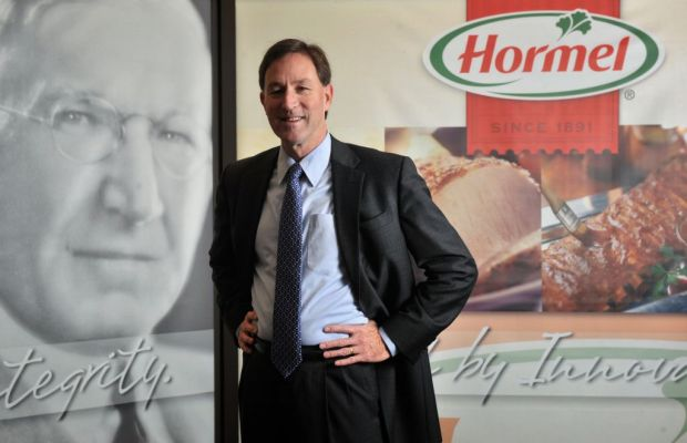 Jeffrey M. Ettinger served on the Hormel Foods Board of Directors since May 2004.