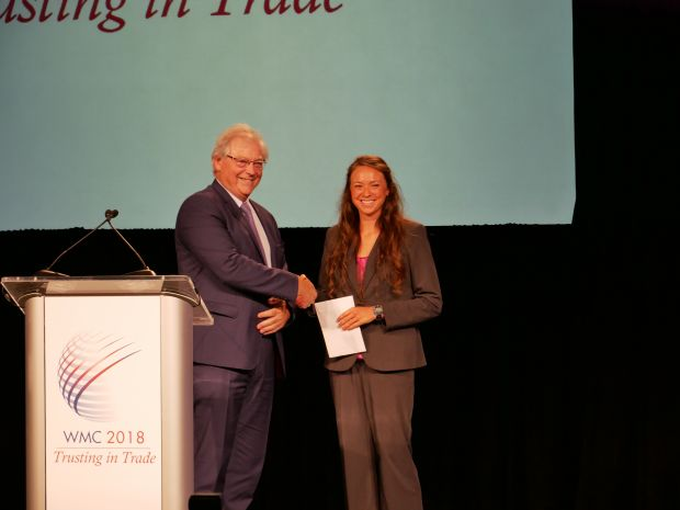 Michelle LeMaster was honored from IMS President Guillaume Roué.