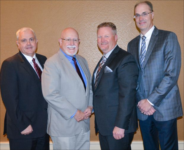 The new USMEF officers are (from left) Conley Nelson, Dr. Dennis Stiffler, Cevin Jones and Pat Binger.