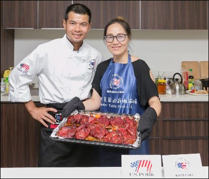 USMEF's consumer cooking classes in Shanghai promoted U.S. pork and beef as healthy and easy-to-cook.