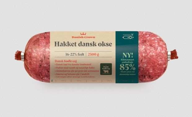 The company will sell minced beef in a climate-friendly packaging that reduces plastic consumption by up to 85%.