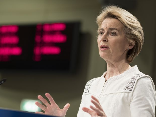 "The new President of the EU Commission, Ursula von der Leyen, presented the ""Green Deal"" in Brussels."