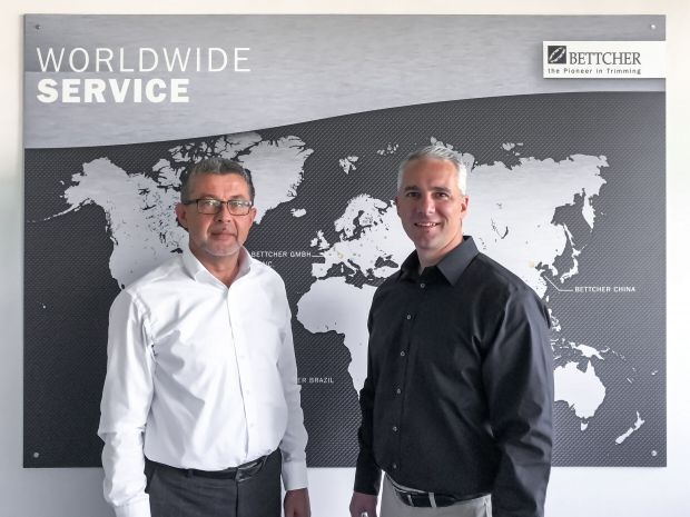 Gregor Thomalla, Managing Director of Bettcher GmbH, and Russ Stroner, Head of Worldwide Sales at Bettcher
