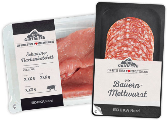 "30 years ago, the meat factory of the Edeka Nord region introduced its own branded meat programme under the name ""Gutfleisch"" and continuously developed it further with higher requirements in terms of quality, transparency and regionality."
