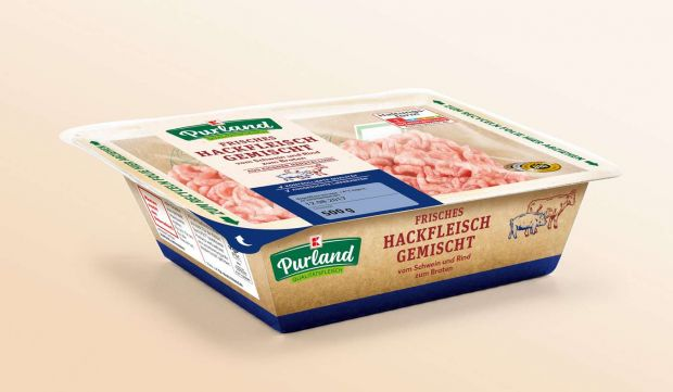 Instead of a plastic tray, the minced meat will in future be made from cardboard lined with a thin plastic foil.