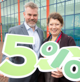 Pictured launching Moy Park's new plastics strategy is Matt Harris, Moy Park Head of Packaging and Jane Bevis, Chair, OPRL.