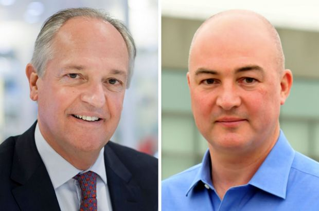 Paul Polman (left), current CEO of Unilever, and Alan Jope (right), new CEO of Unilever starting 1 January.