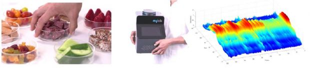 The NIR spectra of mylab provide information on the nutrient concentration of solids and liquids.