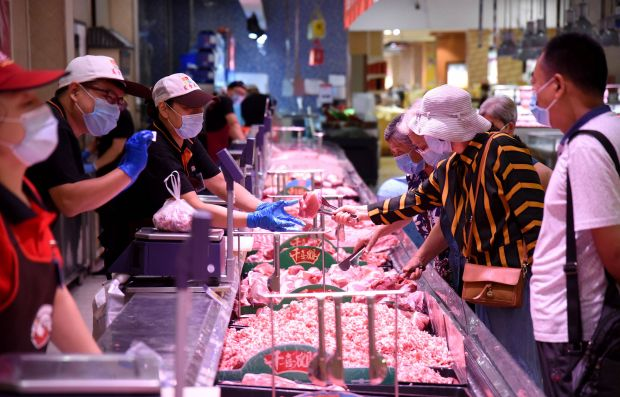 Chinese meat imports are likely to decline after tighter controls like testing containers of frozen food for the presence of the coronavirus.