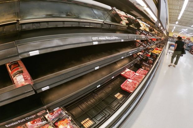 The tightness in supply prompted continued waves of consumers stocking up on meat and poultry, fresh and frozen.