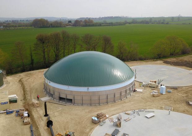 The biogas plant in South Korea is to produce heat from food waste.