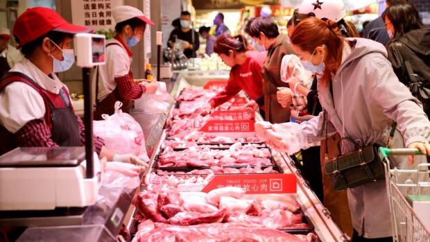 The corona crisis had little effect on meat consumption in China.
