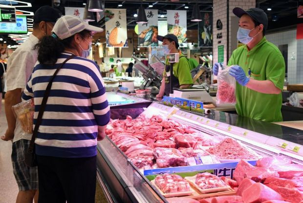 Pork prices rose again in China in June.