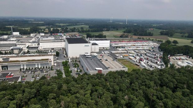 Aerial view of the Tönnies company premises in Rheda-Wiedenbrück. According to media reports, the quarreling Tönnies family is apparently on the verge of selling its own meat processing plant.